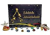 Davartis - Edelstein Adventskalender - 24 Edelsteine mit Sammelstickern inkl. Sammelspaß Heft - Limited Edition