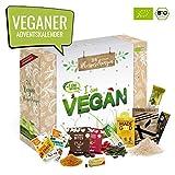 Bio VEGAN Advent-Kalender I veganer Weihnachtskalender mit 24 Überraschungen! Ausgefallener Adventskalender für Erwachsene Adventskalenderideen ohne Tierprodukte