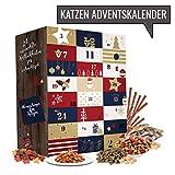 Katze Advent-Kalender I Weihnachtskalender mit 24 hochwertigen Feinkostartikeln für ihren Vierbeiner. Adventskalender für Tierliebhaber und Katzenbesitzer