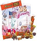Reeses Adventskalender I Weihnachtskalender mit verschiedenen typisch amerikanischen Süßigkeiten I Kalender als Geschenk für Süßigkeitenfans I Geschenkset in der Weihnachtszeit Adventszeit