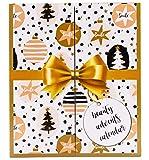 GOLDEN BOOK Adventskalender mit MakeUp - Kosmetik Buch Adventskalender für Frauen
