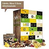 Früchte-Nüsse-Kerne Adventskalender I kulinarischer Weihnachtskalender mit 24 Feinkost Überraschungen! Ausgefallener Adventskalender für Sportler oder Genießer