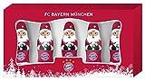 Mini - Weihnachtsmänner FC BAYERN MÜNCHEN (5 Stück / 60 Gramm) IN GESCHENKVERPACKUNG