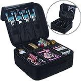Travelmall Kosmetik Organizer-Professionelle Make-up Fall-Reise Make-up Werkzeuge Container (S-schwarz)