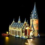 Briksmax Led Beleuchtungsset für Harry Potter–Die große Halle von Hogwarts, Kompatibel Mit Lego 75954 Bausteinen Modell - Ohne Lego Set