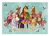 Undercover SIIT8023, Lucky Adventskalender für Mädchen mit 24 Schreibwaren Überraschungen, Zauberhaftes DreamWorks Spirit Motiv, ca. 45 x 32 x 3 cm, bunt