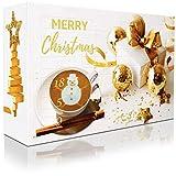 C&T XXL Adventskalender mit hochwertigem Kaffee'Klassik II' (Gold, Ganze Bohnen) 2018-24 Päcken à 35 g Kaffee aus Aller Welt - Weihnachts-Kalender mit kostenloser Infobroschüre