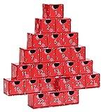 Maulwurf - Geschenke aus der Natur Adventskalender Oh Tannenbaum mit Trommelsteinen, Stein, Rot, 28 x 27 x 4.5 cm