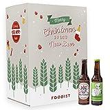 Foodist Craft Beer Adventskalender 24er Bier Box-Set (24 x 0.33L) mit köstlichen Bierspezialitäten aus der ganzen Welt - inkl. Bier-Tasting Anleitung (Craft Beer 2019)
