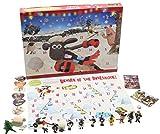 Weihnachts Adventskalender Shaun The Sheep Wallace and Gromit Enthalt Figuren Puzzles Brettspiel und Aufkleber Kalender für Kinder