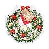 YANKEE CANDLE Adventskalender Geschenkset beduftete Weihnachtsteelichter 24 x 9.8 g und Teelichterhalter, Glas, Bunt, 36.8 x 36.5 x 4.3 cm