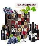 Rotwein Adventskalender mit 24 aromatische Weinsorten aus aller Welt | Rotweinkalender Geschenk für Erwachsene | Wein aus verschiedenen Ländern trinken | neue Rotweine probieren