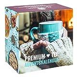 Premium Tee-Adventskalender 2018 XXL, 24 weihnachtliche Gourmet-Teesorten, 192 g loser Tee, Geschenk-Idee für Männer & Frauen