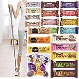 Probierpaket Fitness 25 Riegel Superfood Mix Fruits & Nuts + Fitnessband - Vegan Glutenfrei Raw Ohne Zusatz von Zucker