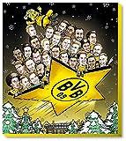 BVB 09 - Adventskalender Comic XXL 2018 - Borussia Dortmund - Schoko - Kalender - Liga - Fußball - Fanartikel - (EUR 9,49/100 g) -