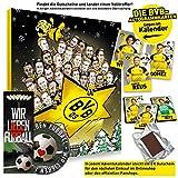 Borussia Dortmund Comic Adventskalender XXL Fairtrade BVB - Plus je 5 x Lesezeichen & Aufkleber Wir lieben Fussball