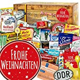 Frohe Weihnachten | DDR Weihnachtskalender | 24 Türchen mit Kultprodukten | Ostpaket | weihnachtlich verpackt mit Ostmotiven