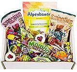 Große Süßigkeiten Box Vegan mit min. 120 Teilen: Bonbons, Lutscher uvm., Piñata Füllung, Party Mix, Kindergeburtstag, Schultüte (1 x 1,1 kg)