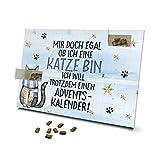 printplanet - Katzen Adventskalender - Layout Mir doch egal ob ich eine Katze Bin - mit Katzen Leckerlis gefüllt - Weihnachtskalender für Katzen - 2020