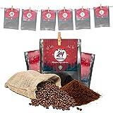 Premium Kaffee Adventskalender 2020 - Mit Liebe geröstet von Menschen mit Behinderung | Kaffee Geschenk für Männer und Frauen | fair | 24 x 30 g Kaffeebohnen im Weihnachtskalender