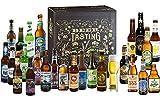 Kalea Bier-Adventskalender 2019 | Edition Bad Santa | 24 Deutsche Bier-Spezialitäten und 1 exklusivem Verkostungsglas | 24 x 0,33 l Flaschen