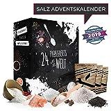 Salz-Adventskalender mit 24 delikaten naturbelassenen Natursalzen ausgefallenes Geschenkset Ursalze aus aller Welt für die Weihnachtszeit Adventszeit