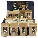 C&T Kaffee-Geschenkset Bio/Fair 24 Päckchen á 25 g (Gemahlen) 2019 mit 24 Biologischen, Raritäten- und Fair gehandelten Kaffees plus Überraschung   Weihnachts-geschenk   Geschenkbox