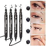 Yuccer Eyeliner Stempel, Wasserfest Schwarz Eyeliner Flüssig Eye Liner Makeup (4 Stück)