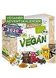 Veganer Adventskalender 2020 BIO-Qualität I tierfreier Adventskalender mit 24 verganen Leckerein für die Adventszeit - veganer Adventskalender I vegane Geschenkidee pflanzlicher Adventskalender
