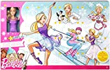 Barbie FTF92 - Adventskalender 2018, Spielzeug Weihnachtskalender mit Puppe im lila Kleid, 23 Accessoires und Moden, Mädchen Spielzeug ab 3 Jahren