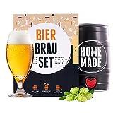 Bierbrauset zum selber brauen   Pils im 5 liter Fass   In 7 Tagen fertig   Perfektes Geschenk für Männer, Freund oder Vater   von Braufässchen