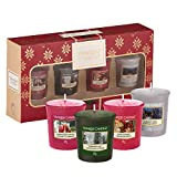Yankee Candle Geschenkset, mit 4duftenden Votivkerzen, Alpine Christmas Collection, in festlicher Geschenkbox