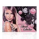 Accentra Adventskalender Kosmetik für Frauen & Teenager Mädchen, Schminke-Set mit 24 Make-up Produkten, tolle Farben für perfektes Styling im Advent
