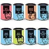 Just Spices Top 8 Gewürze Set   Geschenkset in schöner Holzbox   8 unserer beliebtesten Gewürze in einer Box   Geschenk für Männer und Frauen