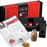 Geschenkset - Gewürzset - Das perfekte Weihnachtsgeschenk für Geniesser - Kräuter - und Gewürzmischungen mit Rezepten zum Nachkochen (Italia)
