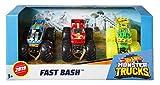 Hot Wheels - Monster Trucks 1:64 Die-Cast Spielzeugauto 3er Geschenkset #1, Spielzeug ab 3 Jahren, Farblich sortiert