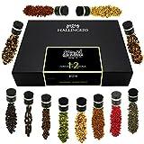 Hallingers 12er Premium Gin Botanicals als Geschenk-Set (142g) - Botanical Gin Pimper XL (Design-Karton) - zu Muttertag & Vatertag Für Ihn Weihnachten