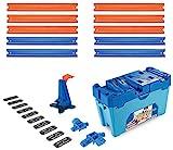 Hot Wheels FLK90 - Track Builder Stunt Builder Super Multi Looping Box, mit ca. 3 m Tracks inkl. Zubehör und 1 Spielzeugauto, Kinder Spielzeug und Geschenkset ab 6 Jahren