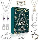 iZoeL Schmuck Adventskalender 24 Überraschungen mit Halskette Ohrringe Ringe Armbänder Schmuckkalender für Frau Mutter Freundin Tochter Schwester