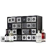 NYZE Gin- und Wein Adventskalender 24 x Mini Flaschen Gin, Rotwein, Weißwein und Rosé als Geschenk