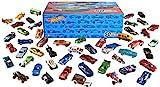 Hot Wheels V6697 - 50er Pack 1:64 Die-Cast Fahrzeuge extra großes Geschenkset, je 50 Spielzeugautos, zufällige Auswahl, ab 3 Jahren