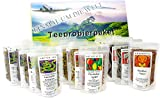 XXL Tee-Geschenk-Set großes Tee-Probierpaket 'Einmal um die Welt ' in aufregender, präsentfertiger Geschenkbox