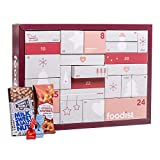Foodist Gourmet Adventskalender 2020 - mit 24 internationale Snacks wie Trüffel Chips, div. Schokolade, Gebäck, salzigem Nuss Mix uvm. - exklusive Geschenkidee inkl. Rezept-Büchlein und DIY Tipps