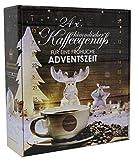 Kaffee Adventskalender mit 24 Türchen - 24 x verschiedener Röstkaffee - 24 x 15 g Kaffee - 360 g gemahlener Kaffee von Querfee®