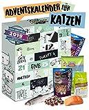 Adventskalender für Katzen mit 24 delikaten Snacks I Geschenkset mit ausgefallenen Kabbereien für Ihre Katze zum Verschenken I Katzenkalender