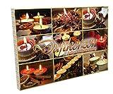 Handelshaus Huber-Kölle Maxi Duftkerzen Adventskalender, Wachs, bunt, 50 x 35.4 x 4 cm