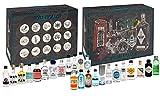 Gin Tasting Set Geschenkbox Probierset - 24x Gin Sorten + Mixcompany Tasting Box - Weihnachtsgeschenk