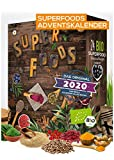 BIO Superfood Adventskalender 2020 I gesund durch die Adventszeit I Superfoods testen I 24 leckere Überraschungen I gesunder Adventskalender I vegan (Superfood)