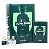 Foodist Gin Adventskalender 2020 mit Marken-Gins - Ausgefallenes Geschenk-Set mit 24 x 50ml Miniaturflaschen inkl. Cocktailrezepten und Tasting-Anleitung für erwachsene Gin-Liebhaber