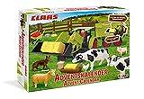 Craze Adventskalender 2020 CLAAS Traktor Bausatz Landwirtschaft Spielset mit Spielfiguren Tierfiguren Weihnachtskalender für Kinder 19597